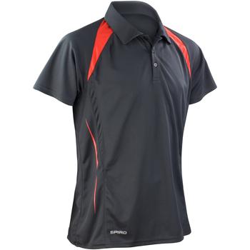 Kleidung Herren Polohemden Spiro S177M Schwarz/Rot
