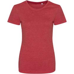 Kleidung Damen T-Shirts Awdis JT01F Rot meliert