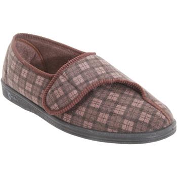 Schuhe Herren Hausschuhe Comfylux  Dunkelbraun