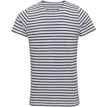 Kleidung Herren T-Shirts Asquith & Fox Mariniere Weiß/Marineblau