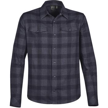 Kleidung Herren Langärmelige Hemden Stormtech Logan Marineblau Kariert
