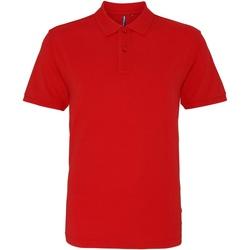 Kleidung Herren Polohemden Asquith & Fox AQ010 Rot Washed
