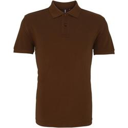 Kleidung Herren Polohemden Asquith & Fox AQ010 Milchschokolade