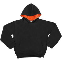 Kleidung Kinder Sweatshirts Awdis JH03J Schwarz/Orange Crush