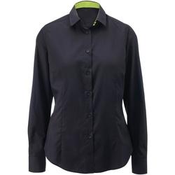 Kleidung Damen Hemden Alexandra AX060 Schwarz/Lime