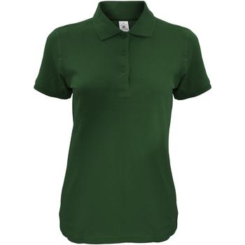 Kleidung Damen Polohemden B And C Safran Flaschengrün