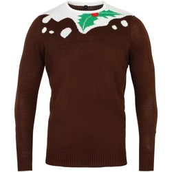 Kleidung Herren Pullover Christmas Shop CS155 Braun/Weiß