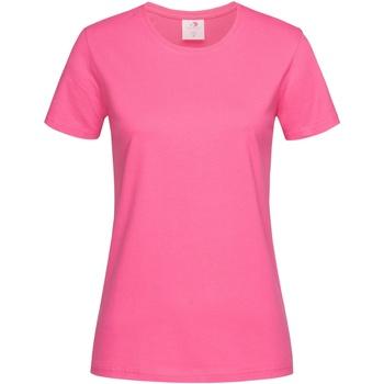 Kleidung Damen T-Shirts Stedman  Rosa