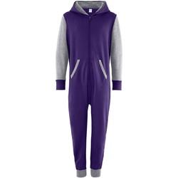 Kleidung Kinder Overalls / Latzhosen Comfy Co CC03J Violett/Grau
