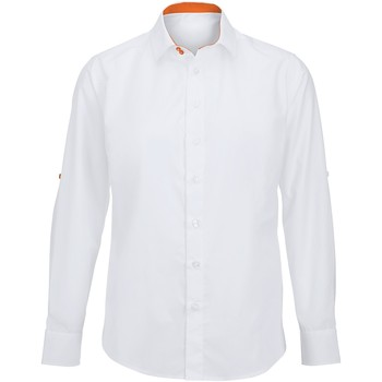 Kleidung Herren Langärmelige Hemden Alexandra Hospitality Weiß/Orange
