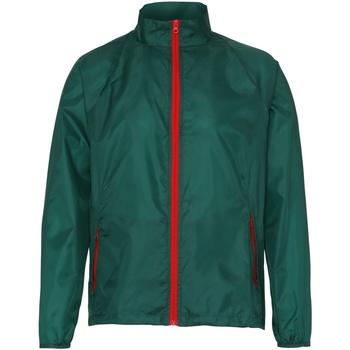 Kleidung Herren Windjacken 2786  Flaschengrün/Rot