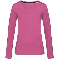 Kleidung Damen Langarmshirts Stedman Stars  Pink