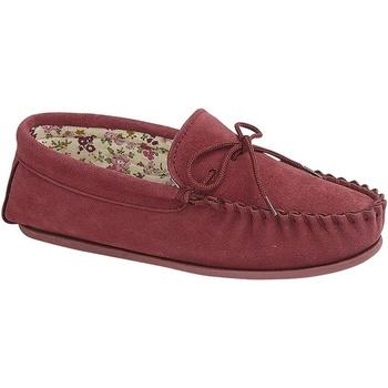 Schuhe Damen Slipper Mokkers Lily Rot