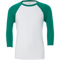 Kleidung Herren Langarmshirts Bella + Canvas CA3200 Weiß/Kellygrün