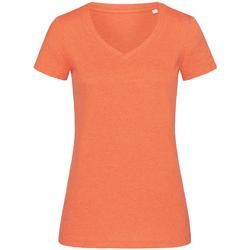 Kleidung Damen T-Shirts Stedman Stars  Kürbisorange meliert