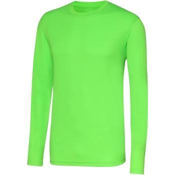 Kleidung Herren Langarmshirts Awdis JC002 Elektrik Grün
