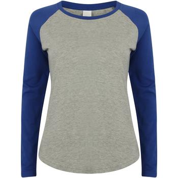 Kleidung Kinder Langarmshirts Skinni Fit SM271 Heather Grau/Royal