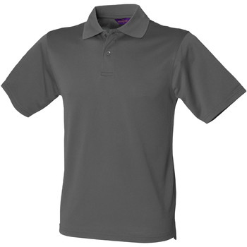 Kleidung Herren Polohemden Henbury HB475 Kohlegrau