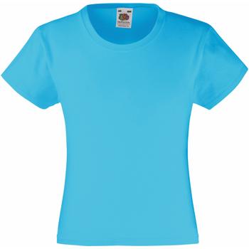 Kleidung Mädchen T-Shirts Fruit Of The Loom 61005 Lichtblau
