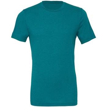 Kleidung Herren T-Shirts Bella + Canvas CA3413 Teal Triblend