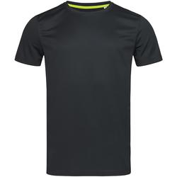 Kleidung Herren T-Shirts Stedman Mesh Schwarz