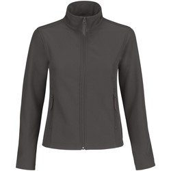 Kleidung Damen Fleecepullover B And C JWI63 Dunkelgrau/Neonorange