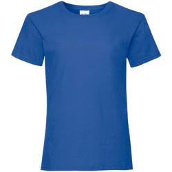 Kleidung Mädchen T-Shirts Fruit Of The Loom 61005 Retro Heidekraut Royal