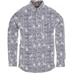 Kleidung Herren Langärmelige Hemden Brave Soul Idris Tinte/Optisches Weiß