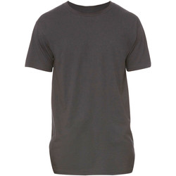 Kleidung Herren T-Shirts Bella + Canvas Long Body Dunkelgrau meliert