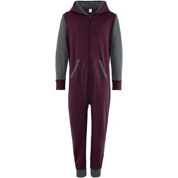 Kleidung Kinder Overalls / Latzhosen Comfy Co CC03J Burgunder/Graphit