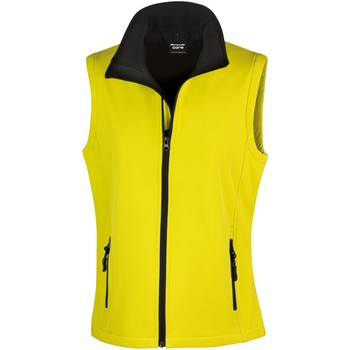 Kleidung Damen Strickjacken Result Printable Gelb/Schwarz