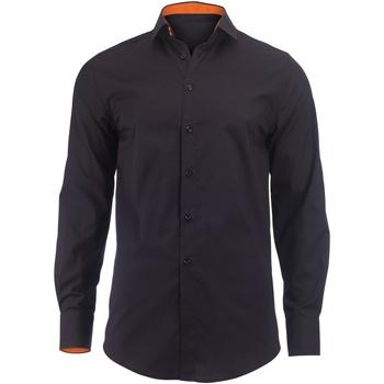 Kleidung Herren Langärmelige Hemden Alexandra Hospitality Schwarz/Orange