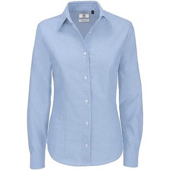 Kleidung Damen Hemden B And C SWO03 Oxford Blau