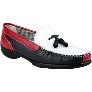 Schuhe Damen Slipper Cotswold BIDDLESTONE Weiß/Marineblau/Rot