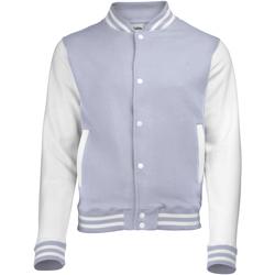 Kleidung Kinder Jacken Awdis JH43J Heather Grau/Weiß