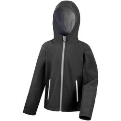 Kleidung Kinder Fleecepullover Result R224JY Schwarz/Grau