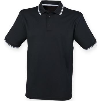 Kleidung Herren Polohemden Henbury HB482 Schwarz/Weiß