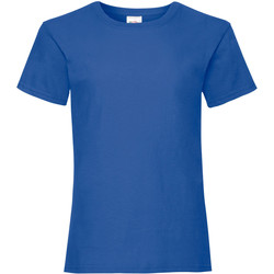 Kleidung Mädchen T-Shirts Fruit Of The Loom Valueweight Roayl Blau