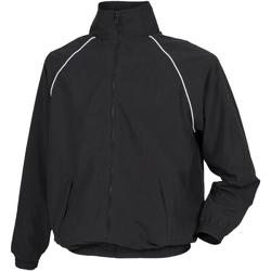 Kleidung Herren Windjacken Tombo Teamsport TL400 Schwarz/Weiße Farbakzente