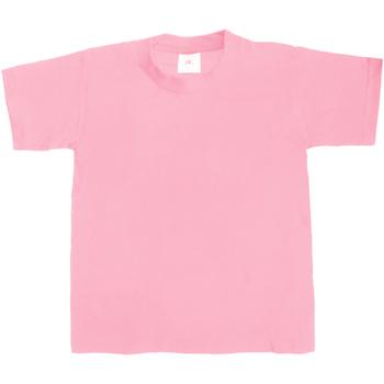 Kleidung Kinder T-Shirts B And C TK301 Hellrosa
