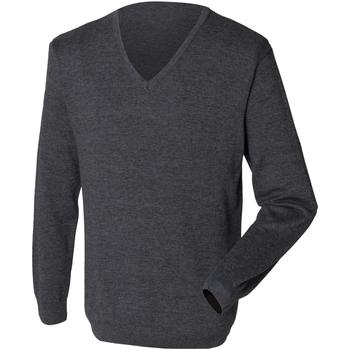 Kleidung Herren Pullover Henbury 12 Gauge Grau meliert