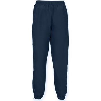 Kleidung Kinder Jogginghosen Tombo Teamsport TL479 Marineblau/Weiße Paspelierung