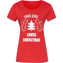 Kleidung Damen T-Shirts Christmas Shop CJ212 Rot