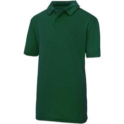 Kleidung Kinder Polohemden Awdis JC40J Flaschengrün