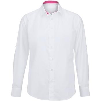 Kleidung Herren Langärmelige Hemden Alexandra Hospitality Weiß/Pink