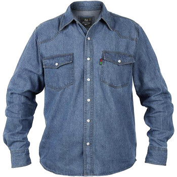 Kleidung Herren Langärmelige Hemden Duke Western Steinwäsche
