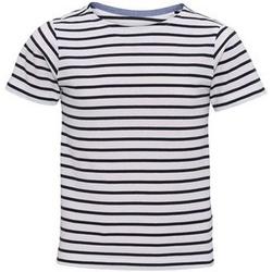 Kleidung Kinder T-Shirts Asquith & Fox  Weiß/Marineblau