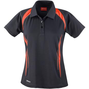 Kleidung Damen Polohemden Spiro S177F Schwarz/Rot