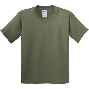 Kleidung Kinder T-Shirts Gildan 5000B Militärgrün
