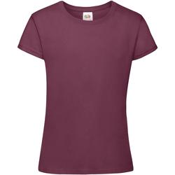 Kleidung Mädchen T-Shirts Fruit Of The Loom 61017 Burgunder